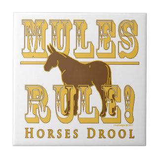 Drool de los caballos de la regla de las mulas teja cerámica