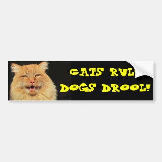 Drool de los perros de la regla de los gatos pegatina para auto