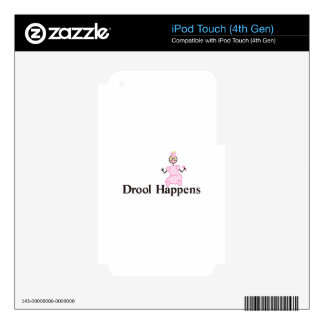 Drool Happens iPod Touch 4G Skin
