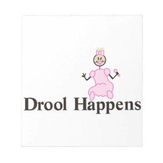 Drool Happens Scratch Pad