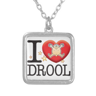 Drool Love Man Square Pendant Necklace
