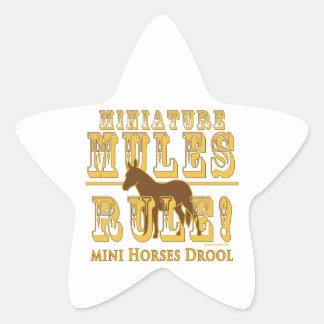 Drool miniatura de los caballos de la regla de las pegatinas forma de estrella personalizadas