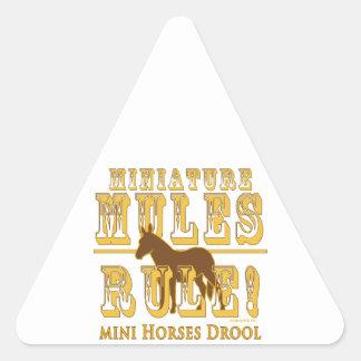 Drool miniatura de los caballos de la regla de las colcomanias triangulo personalizadas