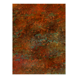 Drool Of The Sun - Abstract Art Poster 18x24