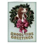 Drool-Tide Greetings holiday card