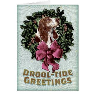 Drool-Tide Greetings holiday card Greeting Card