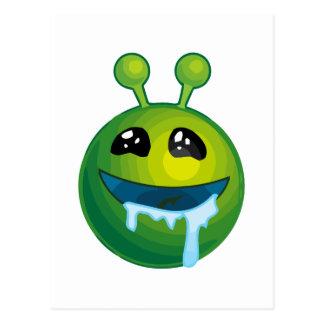 Drooling alien postcard