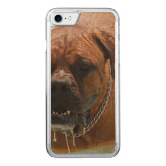 Drooling Bordeaux Mastiff Carved iPhone 7 Case