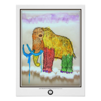 Drooly Mammoth Print