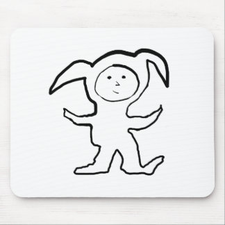 Droopy Ear Bunny Jammie Kid Mouse Pad