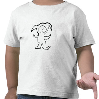 Droopy Ear Bunny Jammie Kid T Shirts
