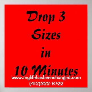 Drop 3 Sizesin 10 Minutes, www.mylifehasbeencha... Poster