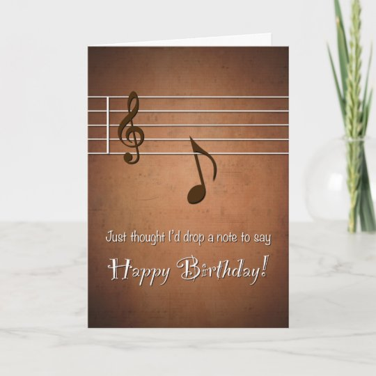 Drop A Punny Note To Say Happy Birthday Card Zazzle
