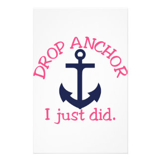 Drop Anchor Stationery