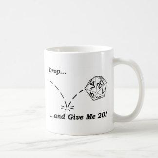 Drop and give me 20 - mug