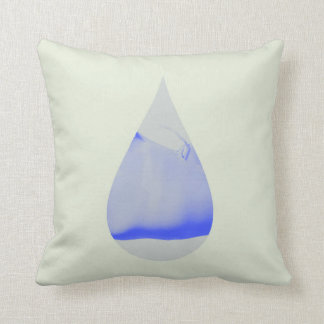 Drop art throw pillow