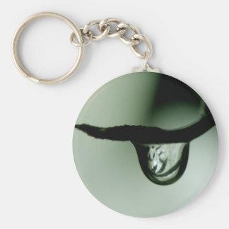 Drop Basic Round Button Keychain