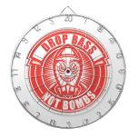 Drop Bass Not Bombs Dart Board
