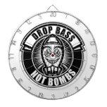 Drop Bass Not Bombs Dartboard