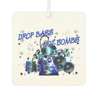 Drop Bass Not Bombs Music vs Violence Air Freshener