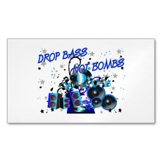 Drop Bass Not Bombs Music vs Violence Magnetic Business Cards (Pack Of 25)