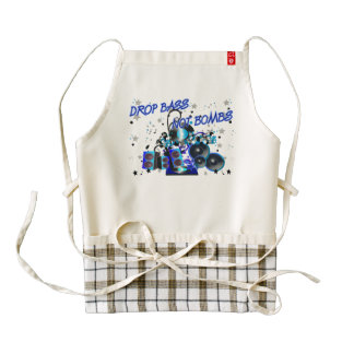 Drop Bass Not Bombs Music vs Violence Zazzle HEART Apron