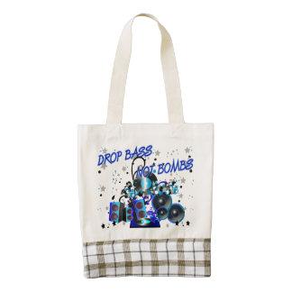 Drop Bass Not Bombs Music vs Violence Zazzle HEART Tote Bag