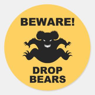 Drop Bears! Classic Round Sticker
