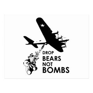 Drop Bears not Bombs Post Cards