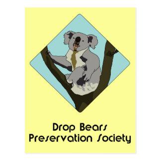 Drop Bears Preservation Society Postcard