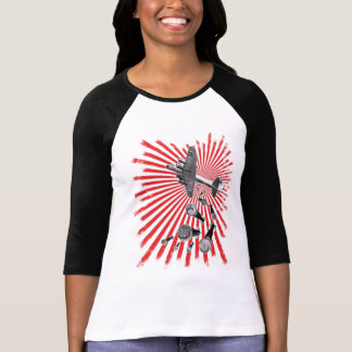 Drop Beats Ladies 3/4 Sleeve Raglan T-Shirt