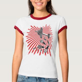 Drop Beats Ladies Ringer T-Shirt
