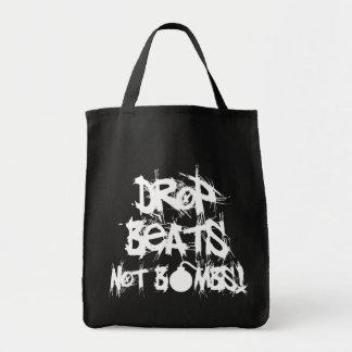Drop Beats Not Bombs Tote Bags