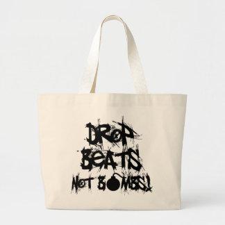 Drop Beats Not Bombs Canvas Bags
