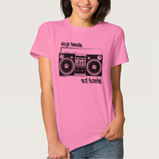 Drop beats not bombs boombox shirt