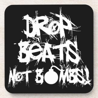 Drop Beats Not Bombs Coaster