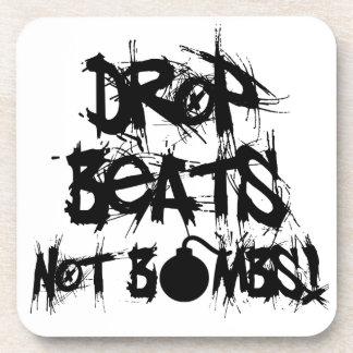 Drop Beats Not Bombs Drink Coaster