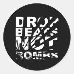 Drop Beats Not Bombs Explosion Classic Round Sticker