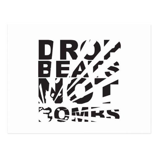 Drop Beats Not Bombs Explosion Post Card