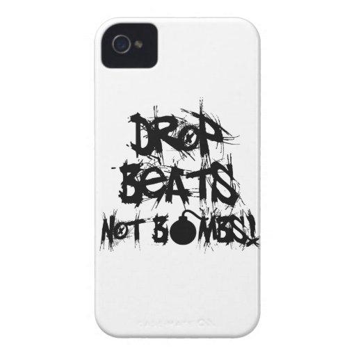 Drop Beats Not Bombs iPhone 4 Case-Mate Case