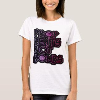 drop beats not bombs ladies shirt