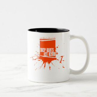 Drop Beats Not Bombs Two-Tone Coffee Mug