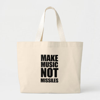 Drop Beats Not Missiles Tote Bags