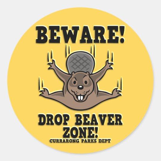 drop-beaver-DKT Classic Round Sticker