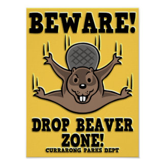 Drop Beaver Zone Poster