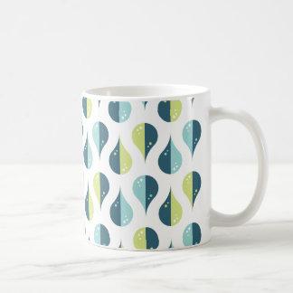 Drop Dance | Limegreen Blue Pattern Design Coffee Mug