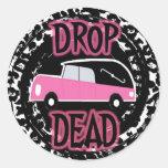 DROP DEAD CLASSIC ROUND STICKER