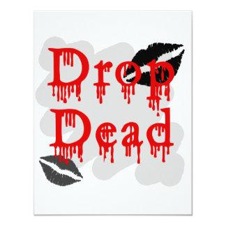 drop dead custom invitation