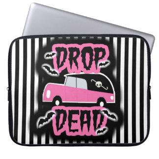 Drop Dead laptop sleeve
