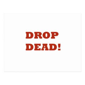 Drop Dead Postcard